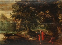 elisée maudissant les garçons de béthel (?) (in 2 parts) by alexander keirincx