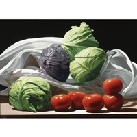 cabbages and tomatoes by renato meziat