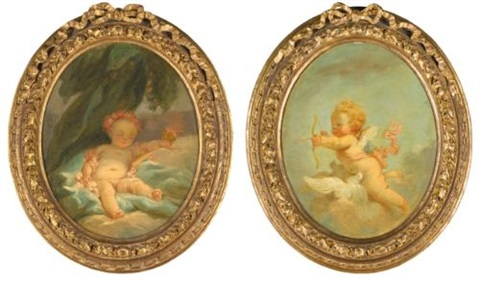 night and day pair by jean honoré fragonard