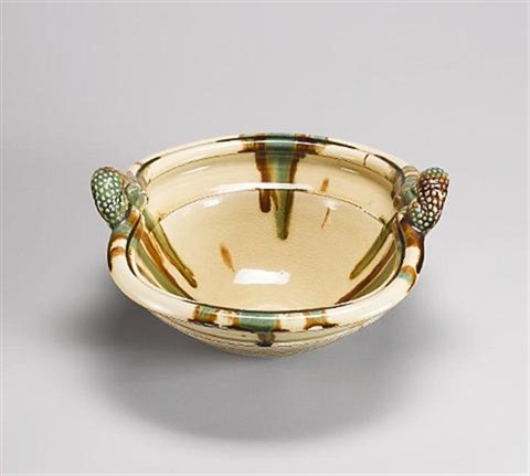 a large sprung base bowl by takeshi yasuda
