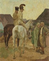 zwei kurierreiter by robert von haug
