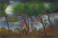 stormy weather (+ 2 others, smaller, one 1936; 3 works) by sydney s. gelfand