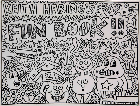 keith harings fun book artist bk w12 works addl small bk by keith haring