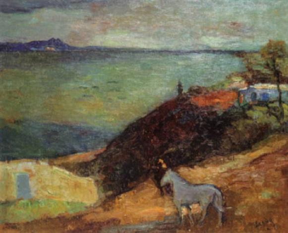 cheval devant sidi-bou-saïd by henri saada