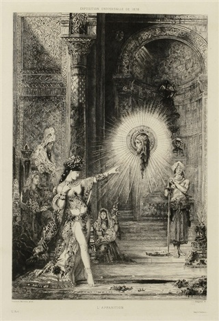 lapparition by gustave moreau