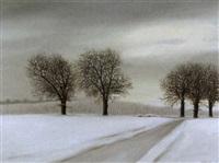 winterliche landschaft mit weinberg by claude sauthier