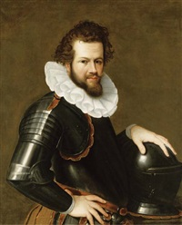 portrait of ranuccio farnese in armor by cesare aretusi