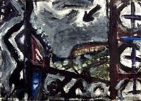 schwarze landschaft by wolfgang petrovsky