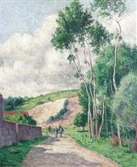 chalo-saint-mars, la sablière de beaumont by maximilien luce