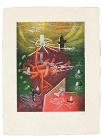 une saison en enfer (set of 10) by roberto matta