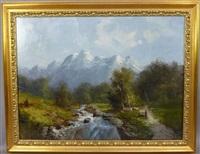 paysage de montagne by godchaux