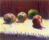 hommage to roderic o'conor, apples and pear by reza macdougald