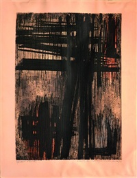eau-forte n°vii by pierre soulages