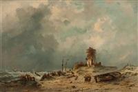 dorfgemeinde an der stürmischen see by adrianus david hilleveld