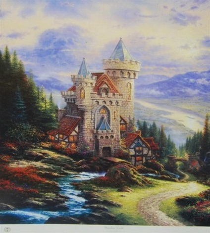 guardian castle by thomas kinkade