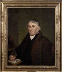 portrait of jacob ritter, sr., the botanist by john lewis krimmel