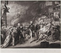 the victory of lord duncan (after john singleton copley) by james ward
