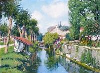 la petite rivière à gyé-sur-seine dans l'aube by maurice bismuth lemaître