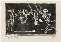 navajo woodcuts (portfolio of 7) by joseph henry sharp