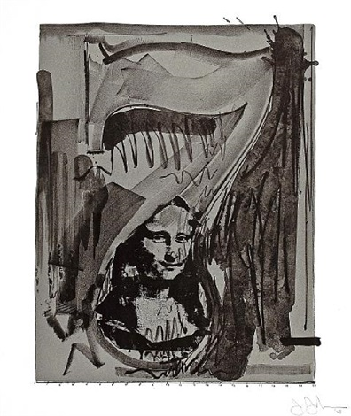 figure 7 from the black numeral series by jasper johns