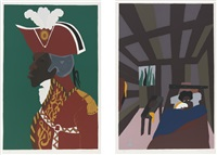 toussaint l'ouverture (portfolio of 15) by jacob lawrence