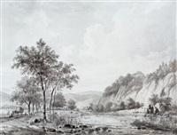 riviervallei met herder en vee by hendrik van de sande bakhuyzen
