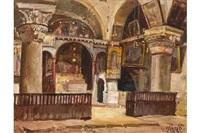 blick in die helenakapelle der grabeskirche by georg macco