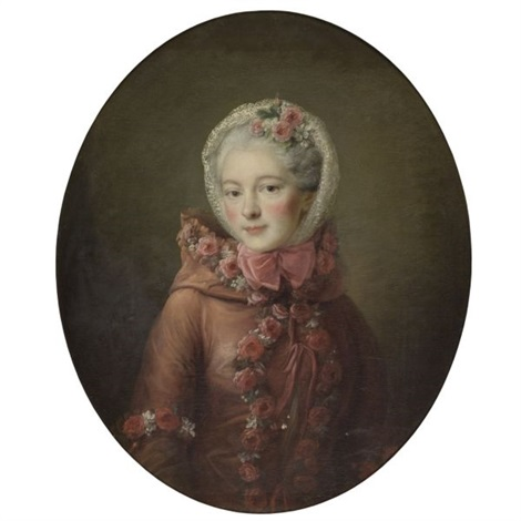 portrait of a young woman by françois hubert drouais