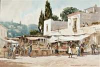 market place, san miguel, mexico by lowell ellsworth smith