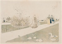 jardin des tuileries (rm.28ii) by edouard vuillard