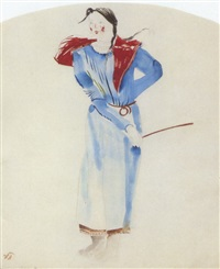 costume design for a peasant girl by vladimir tatlin
