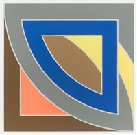 river of ponds i, from newfoundland series by frank stella