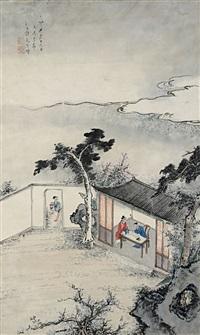 庭院人物图 (evening scene) by xu yao