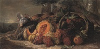 fruits d'automne et perdrix by françois frédéric grobon