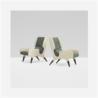 pair of lounge chairs from the hotel parco dei principi, rome by gio ponti
