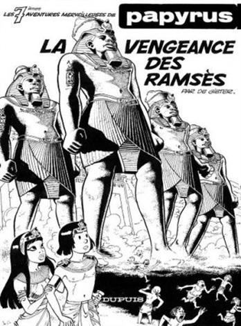 papyrus cover for album la vengeance des ramsès by lucien de gieter