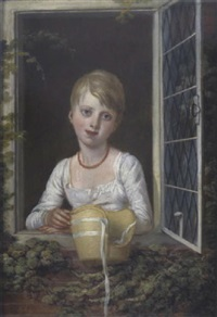 southesa bildnis eines kleinen mädchens mit strohhut by richard livesay