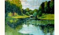 paysage au pont by odön tull