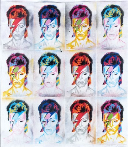 david bowie by mr brainwash