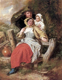 chiswick - a family by a stile by charles dukes