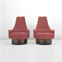 Phenomenal High Back Swivel Lounge Chair Pair By Adrian Pearsall On Artnet Camellatalisay Diy Chair Ideas Camellatalisaycom