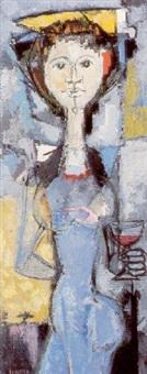mujer en azul by bernardo sanjuán