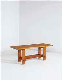 dining table (from the john pew house, shorewood hills, wisconsin) by frank lloyd wright