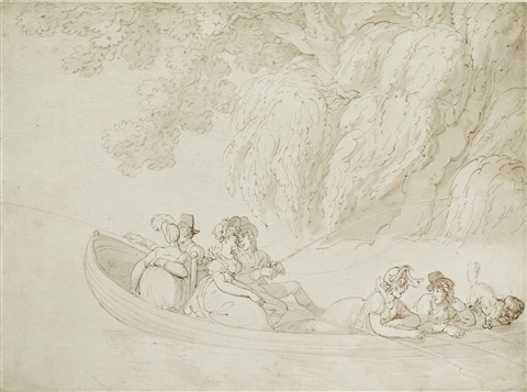 boating party by thomas rowlandson