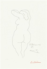 femme vue de dos by pablo picasso