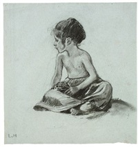 seated child by ludwig von hofmann