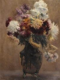 bouquet de dalhias by emile tabary