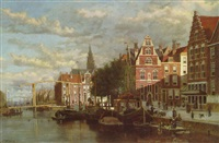 a canal in amsterdam by johannes frederick hulk (unattributable)