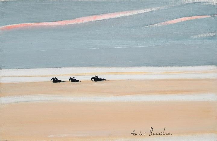 chevaux dans la plaine by andré brasilier