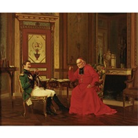 an audience with the cardinal by alfred charles weber
